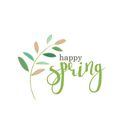 Spring Flowers Painting - Happy Spring by Pamela J. Wingard