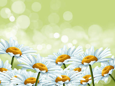 Daisies Digital Art - Happy Spring by Veronica Minozzi