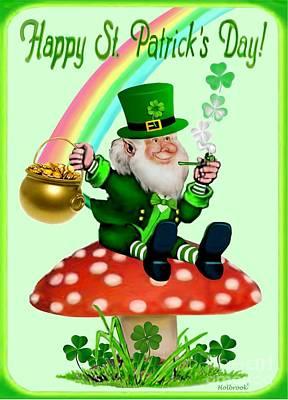 Happy St. Patrick's Day Art Print by Glenn Holbrook