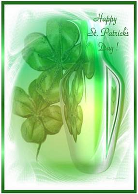 4 Leaf Clover Photograph - Happy St Patricks Day by Joyce Dickens