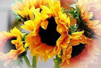 Happy Sunflowers Art Print