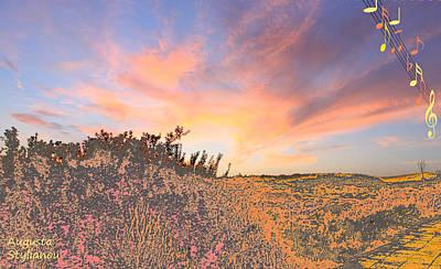 Happy Sunset Art Print