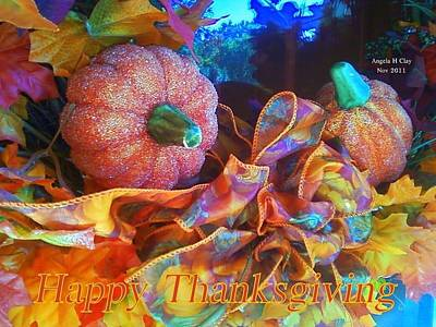 Digital Art - Happy Thanksgiving by Angelia Hodges Clay
