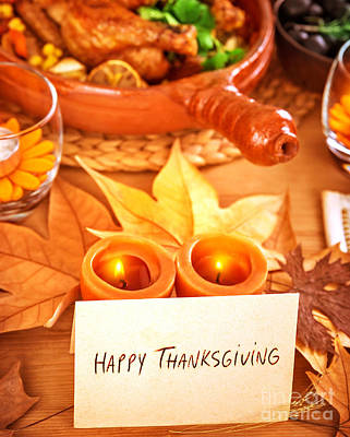 Happy Thanksgiving Art Print by Anna Om