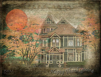Happy Thanksgiving Art Print by Barbara R MacPhail