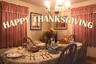 Photograph - Happy Thanksgiving Card by Gene Walls