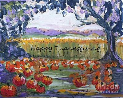 Happy Thanksgiving Greeting Card Art Print