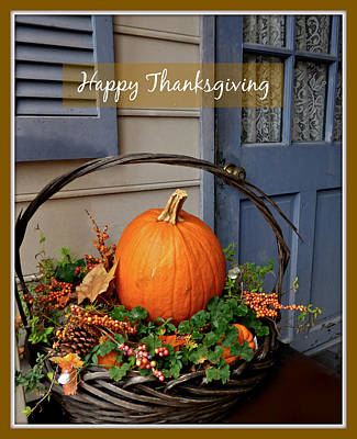Photograph - Happy Thanksgiving by Jean Wright