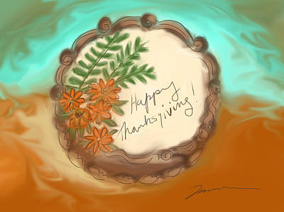 Painting - Happy Thanksgiving by Jean Pacheco Ravinski