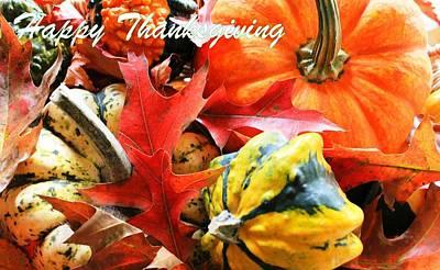 Photograph - Happy Thanksgiving by Judy Palkimas