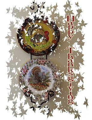 Digital Art - Happy Thanksgiving  by Nancy Patterson