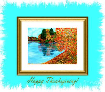 Digital Art - Happy Thanksgiving by Oksana Semenchenko
