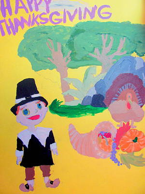 Painting - Happy Thanksgiving Scene by Amy Bradley