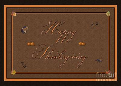 Digital Art - Happy Thanksgiving Turkey by JH Designs