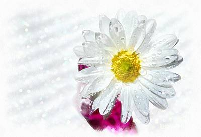 White Flower Photograph - Happy To See You by Krissy Katsimbras