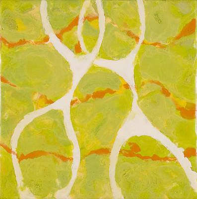 Encaustic Painting - Happy Together by Marilyn Fenn
