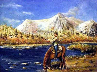 Art Print featuring the painting Happy Trails by Bernadette Krupa