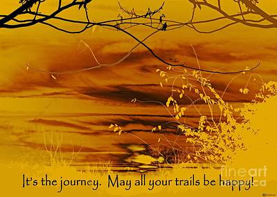 Digital Art - Happy Trails by Lizi Beard-Ward