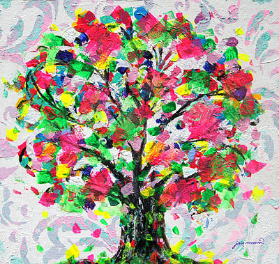 Painting - Happy Tree By Jan Marvin by Jan Marvin
