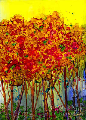 Mixed Media - Happy Trees by Francine Dufour Jones