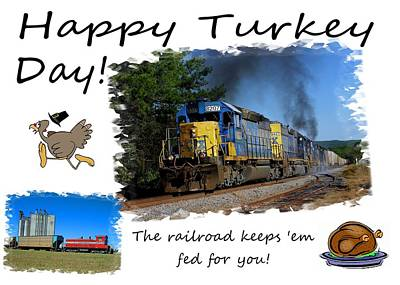 Photograph - Happy Turkey Day Csx 1 by Joseph C Hinson Photography