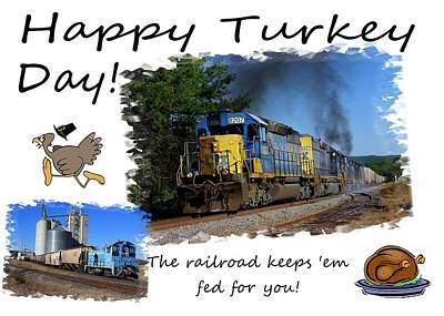 Photograph - Happy Turkey Day Csx 2 by Joseph C Hinson Photography