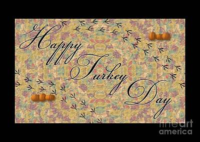 Digital Art - Happy Turkey Day by JH Designs