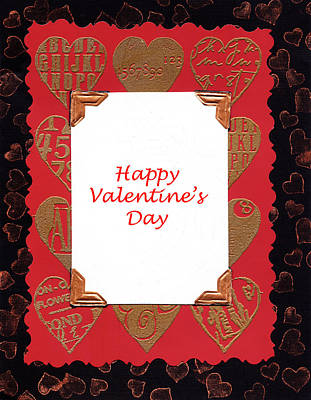 Art Print featuring the photograph Happy Valentines Day Card by Vizual Studio