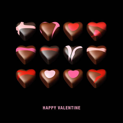 Digital Art - Happy Valentine by Nop Briex