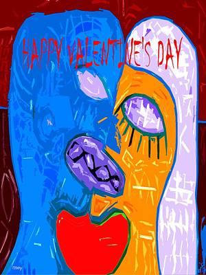 Happy Valentine's Day 22 Art Print by Patrick J Murphy