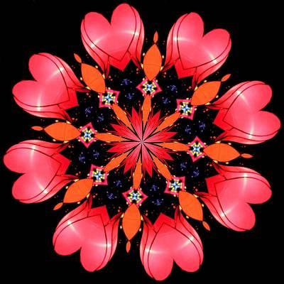 Abstract Hearts Digital Art - Happy Valentines Day by Elizabeth Budd