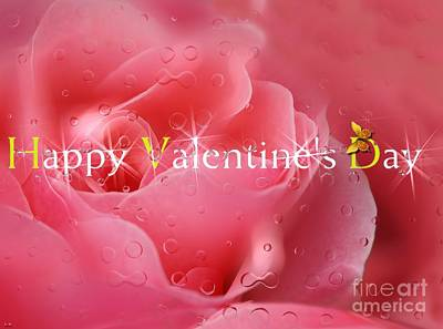 Digital Art - Happy Valentine's Day - Floral Design by Liane Wright