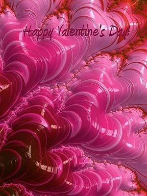 Abstract Hearts Digital Art - Happy Valentine's Day Hearts by Heidi Smith