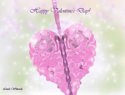 Digital Art - Happy Valentines Day by Linda Whiteside