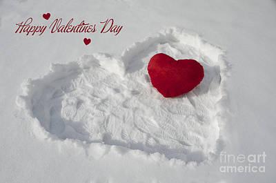 Happy Valentins Days Art Print by Nicole Markmann Nelson