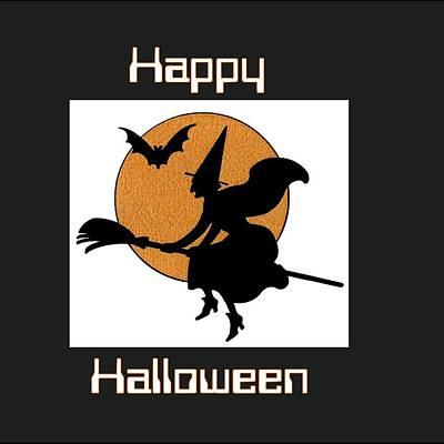 Happy Witch Halloween Original by Florene Welebny