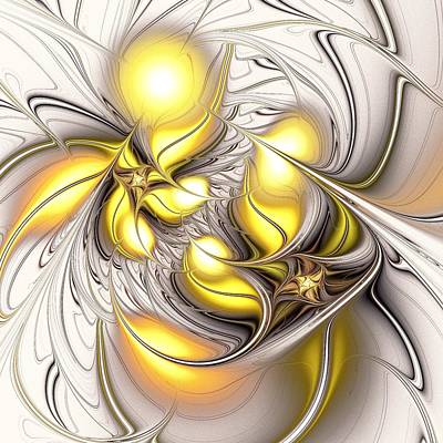 Cheerful Digital Art - Happy Yellow by Anastasiya Malakhova
