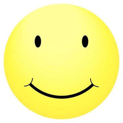 Icon Photograph - Happy Yellow Smiley by Matan Reichman