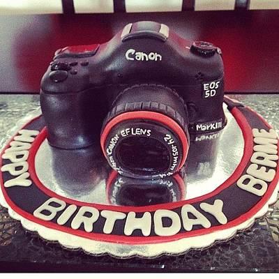 Yummy Wall Art - Photograph - #happy#birthday#cake#camera#canon#yummy by Ivelaida Rivera