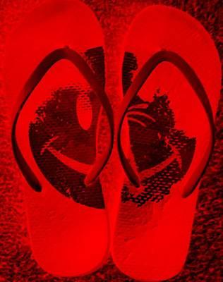 Animal Watercolors Juan Bosco - Happyflops Red by Rob Hans
