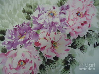 Art Print featuring the painting Happyflower427012-1 by Dongling Sun
