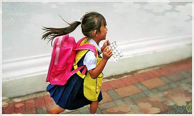 Photograph - Happyschoolgirl by Paul Rainwater