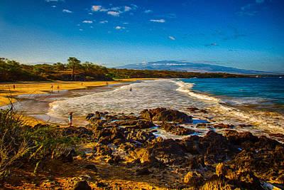 Painting - Hapuna Beach by Omaste Witkowski