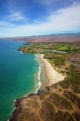 Mauna Kea Photograph - Hapuna Beach Prince Hotel, Mauna Kea by Douglas Peebles