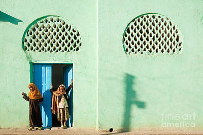 Harar Ethiopia Old Town City Mosque Girls Children Art Print