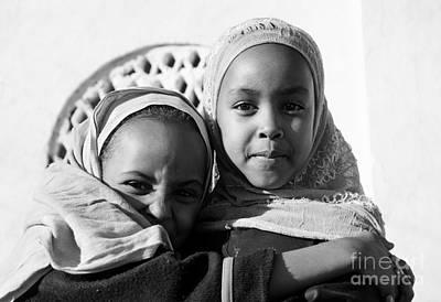 Photograph - Harar Ethiopia Old Town City Muslim Girls Children by Jacek Malipan