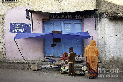 Photograph - Harar Ethiopia Old Town Walled City Woman Shop Shopping Africa by Jacek Malipan