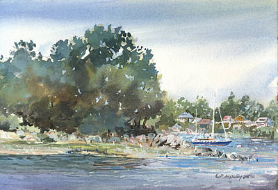 Painting - Harbor Anchorage by P Anthony Visco