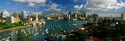 Luna Photograph - Harbor And City And Bridge, Sydney by Panoramic Images