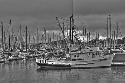 Boat Photograph - Harbor And Marina Monterey 2 by SC Heffner